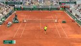 Akrobatyczny majstersztyk Nadala w 1. secie starcia z Djokoviciem