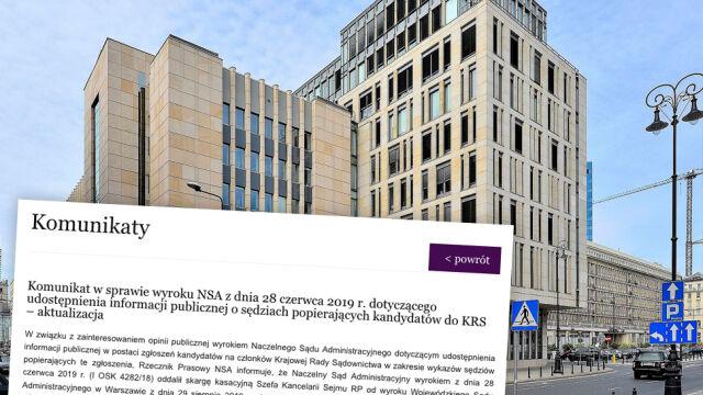 NSA uzasadnia wyrok w sprawie ujawnienia list poparcia do KRS