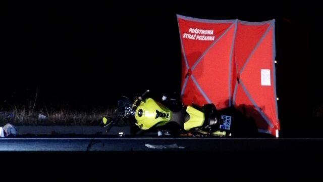 Tragiczne zderzenie motocyklistów. Jeden nie żyje, drugi w szpitalu
