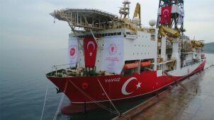 Drugi turecki statek zakotwiczył i ma wiercić.