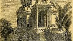 Szkic Mouhota przedstawiający jeden z pawilonów Angkor Wat