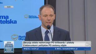 Jacek Protasiewicz o zawieszeniu kampanii informacyjnej/TVN24