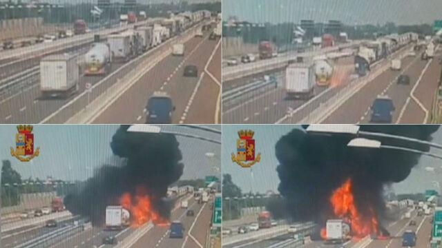 Autostrada w ogniu. Eksplozja cysterny, zabici i ponad 100 rannych