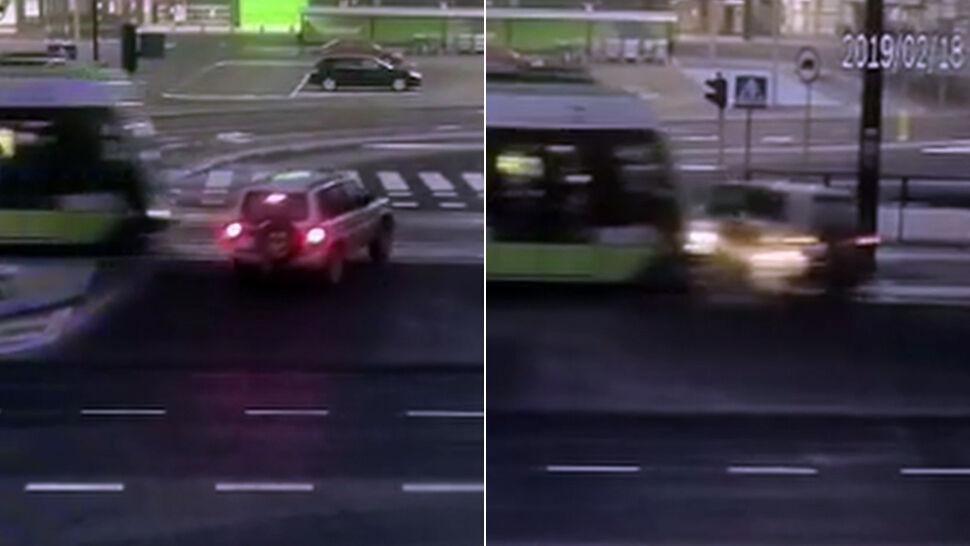 Nie ustąpiła pierwszeństwa tramwajowi, po zderzeniu straciła prawo jazdy
