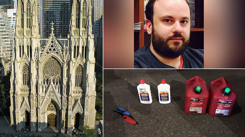 Wszedł z kanistrami benzyny do nowojorskiej katedry. Zarezerwował też bilet do Rzymu