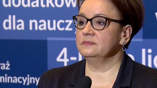 Minister Anna Zalewska o przebiegu egzaminów ósmoklasistów
