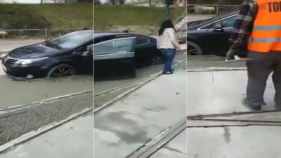 Auto w betonie pokonało rywali. Najciekawsze wideo tygodnia tvn24.pl