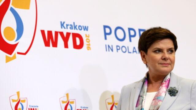 """""""Było bezpiecznie, było wspaniale"""". Premier Szydło dziękuje za ŚDM"""