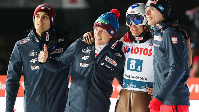 Polska drużyna na podium. Tylko Norwegowie latali dalej