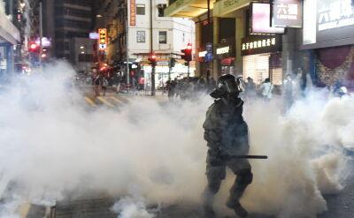 22. weekend protestów w Hongkongu. Znów doszło do starć z policją