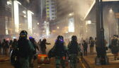 Haloweenowy protest w Hongkongu. Policja użyła gazu łzawiącego