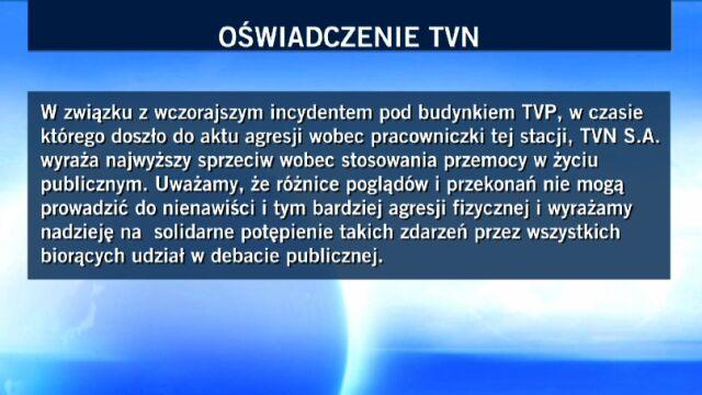 Oświadczenie TVN w sprawie ataku na Magdalenę Ogórek