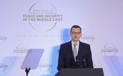 Wystąpienie Mateusza Morawieckiego drugiego dnia konferencji bliskowschodniej