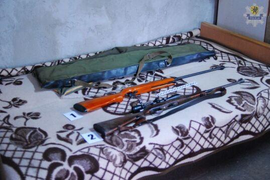 Funkcjonariusze zabezpieczyli ponad 250 sztuk amunicji, nielegalną broń i narzędzia służące do kłusownictwa