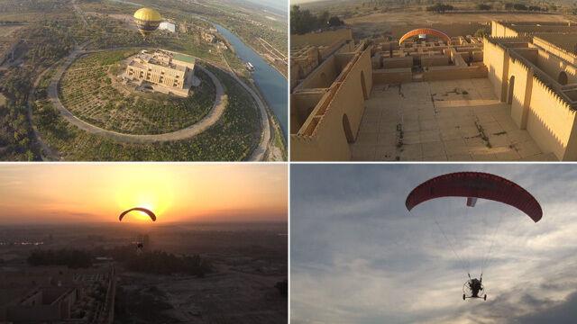 Irak z lotu ptaka. Niezwykłe filmy polskich motoparalotniarzy