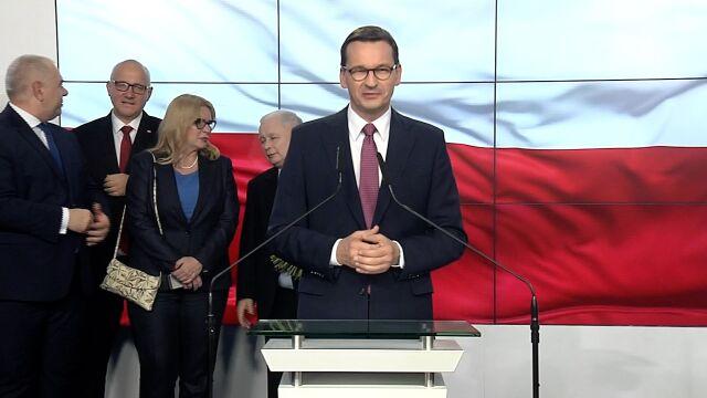 Mateusz Morawiecki w sztabie Prawa i Sprawiedliwości