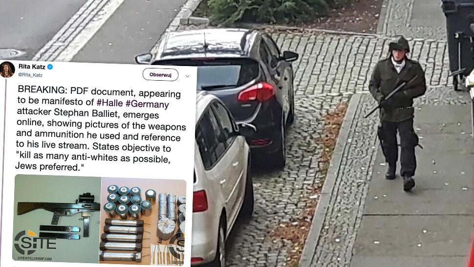 """Zdjęcia broni i cel ataku. """"Manifest zamachowca  z Halle"""" znaleziony w internecie"""
