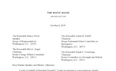 Biały Dom nie będzie współpracował ws. impeachmentu