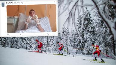 Koszmarne skutki biegu narciarskiego.