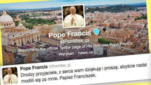 """Franciszek """"ćwierknął"""". Także po polsku"""