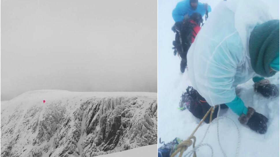 Wiatr 120 km/h, mgła i mróz. Turyści utknęli w Karkonoszach