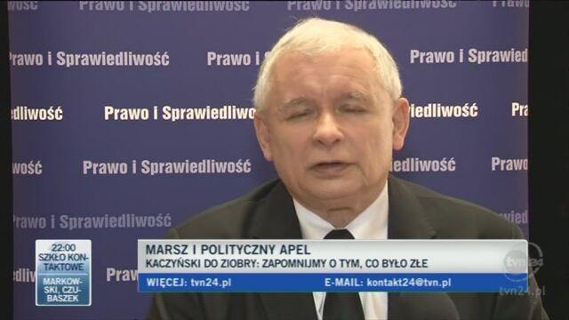 Jarosław Kaczyński o współpracy z Solidarną Polską (TVN24)