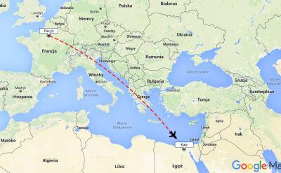 Samolot leciał z Paryża do Kairu