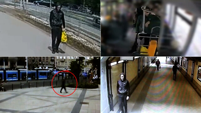 To on podłożył ładunek wybuchowy  w autobusie? Film z monitoringu