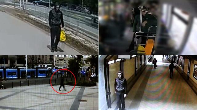 To on podłożył bombę w autobusie. Film z monitoringu