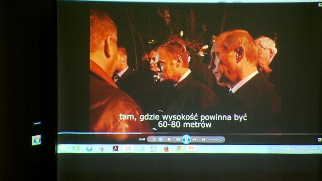 Macierewicz pokazał nagranie Tusk-Putin