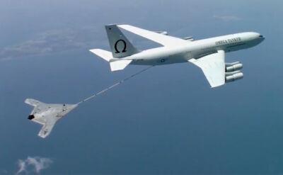 Bezzałogowy samolot zatankował w powietrzu. Zobacz nagranie z manewru