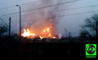 Nagranie świadka pożaru w Jankowie Przygodzkim