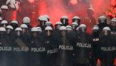 Kilkanaście osób zatrzymanych, dwóch policjantów rannych