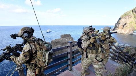 """Armia Seulu na spornym archipelagu. Tokio o manewrach """"nie do zaakceptowania"""""""