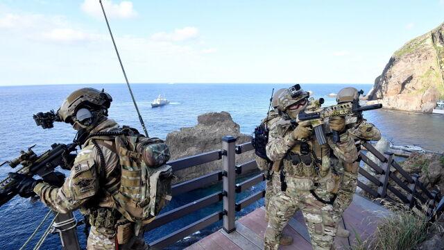 Armia Seulu na spornym archipelagu. Tokio o manewrach