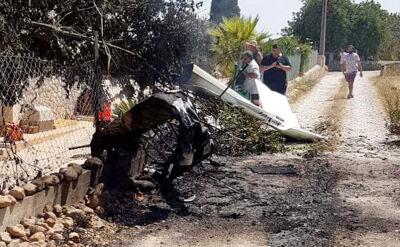 Zderzenie śmigłowca z małym samolotem na Majorce