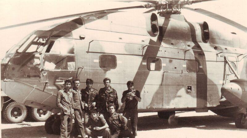 Pokaz izraelskiego lotnictwa w 1967 roku. Na początku śmigłowce Super Frelon