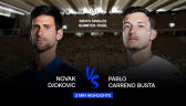 Skrót meczu Djoković - Carreno-Busta w ćwierćfinale Roland Garros