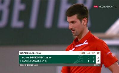 Djoković przełamany w trzecim secie finału Roland Garros