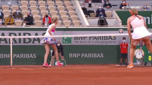 Niesamowita wymiana w meczu Kenin - Kvitova w półfinale Roland Garros