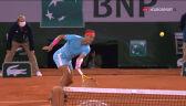 Świetny dropszot Nadala w finale Roland Garros