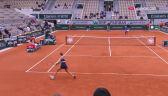 Niesamowita wymiana w meczu Switolina - Podoroska w ćwierćfinale Roland Garros
