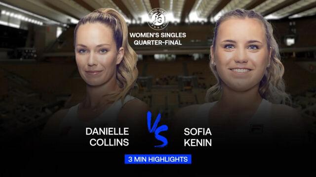 Skrót meczu Kenin - Collins w ćwierćfinale Roland Garros