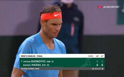 Nadal wygrał 2. seta w starciu z Djokoviciem w finale Roland Garros