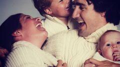 Państwo Trudeau z dziećmi