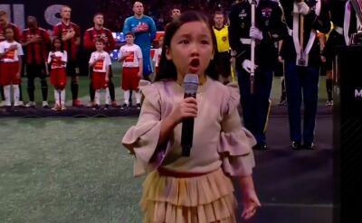 Siedmiolatka śpiewająca hymn znów zachwyciła Amerykę