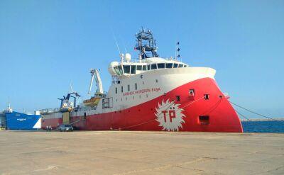 Turecki statek badawczy na spornych wodach koło Cypru. USA i UE zaniepokojone