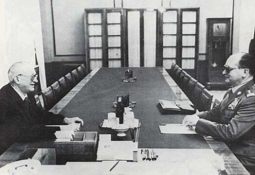 Jurij Andropow i gen. Wojciech Jaruzelski ok. 1980