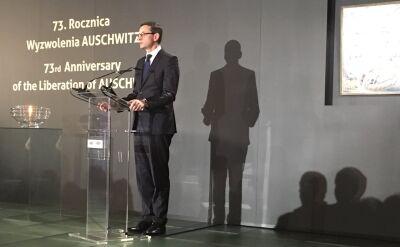 Premier Morawiecki na obchodach 73. rocznicy wyzwolenia Auschwitz