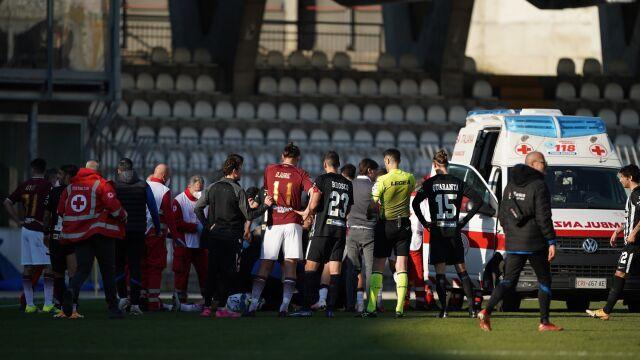Polski piłkarz wyszedł ze szpitala po ataku padaczki w czasie meczu
